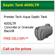 3800lt septic tank shallow dig only £735.00 +VAT