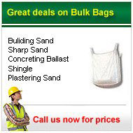 bulk bagged aggreagtes from only £40.00 a bag +VAT