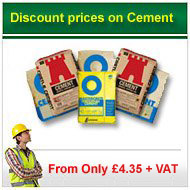 25kg opc cement from only £3.80 per bag +VAT
