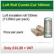 12 packs 100mm loft roll 13.89m2 pack for only £226.80 +vat